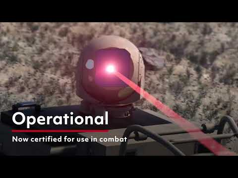 High Energy Laser Weapon System In Action