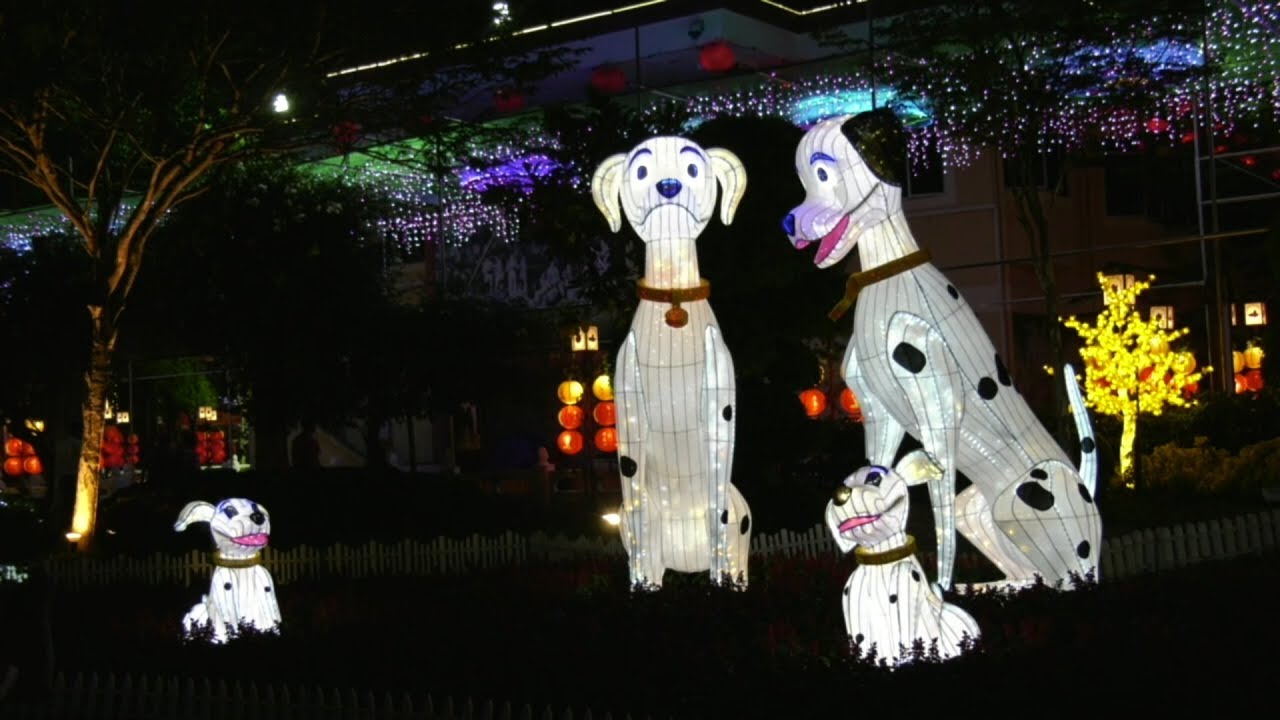 Dog lanterns take centre stage at temple's CNY festival
