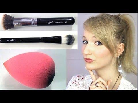 Womit trägt man am besten Makeup auf? Pinsel, Schwamm, Hände?!
