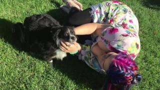 vuclip My little pony girl rubs dog xx
