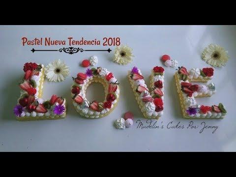 Galleta/Pastel Letras Nueva Tendencia
