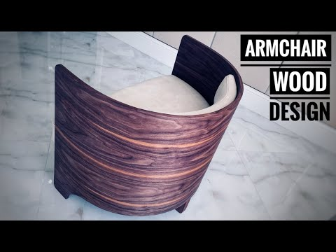 How to make a modern Armchair part1. Woodworking. Как сделать мебель.