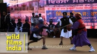 Gatka is a Sikh martial art practice from Punjab
