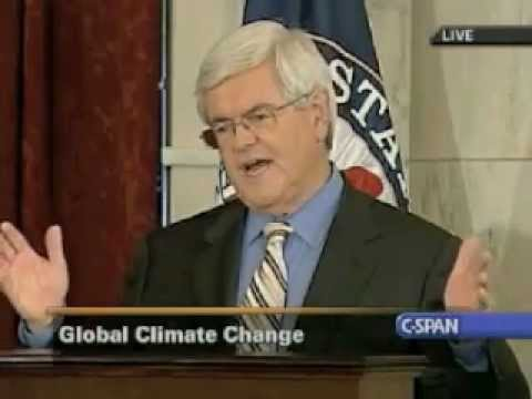 Newt Gingrich talks Climate Change in 2007