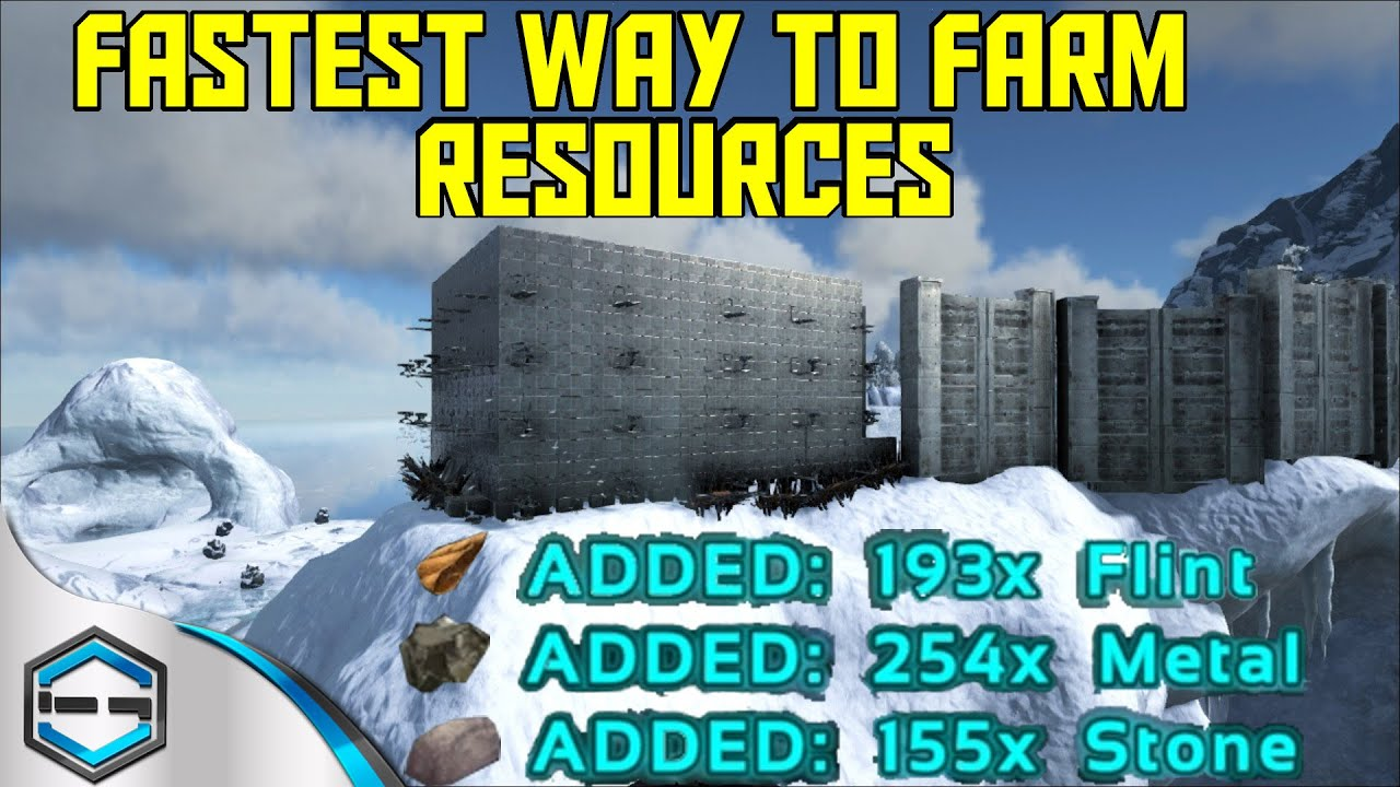 Ark Survival Evolved Best Way To Farm Resources Ep.35   YouTube