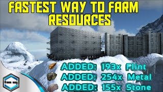 Ark Survival Evolved Best Way To Farm Resources Ep.35