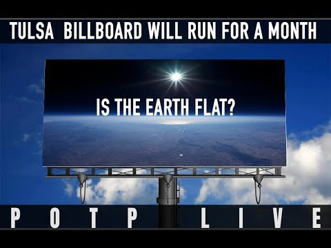 TULSA FLAT EARTH BILLBOARD WILL RUN FOR A MONTH - Meet the woman who made it happen!