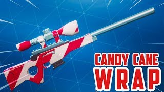 New Fortnite Candy Cane Wrap! (UNLOCKING EXCLUSIVE WRAPS IN FORTNTIE BATTLE ROYALE!)
