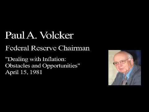 Landon Lecture | Paul Volcker - audio only