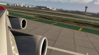 Qantas 747-400 take off LAX ++ Aerofly FS 2 ++
