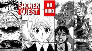 Shonen Quest - One Piece 924, Boku no Hero Academia 205, Shingeki no Kyojin 111, Hunter x Hunter 388