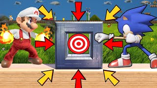 Super Smash Bros. Ultimate - Who Can Break The Target Through A Steel Wall?