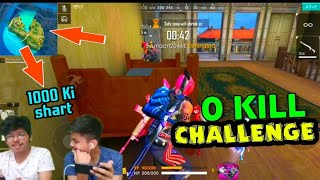 FREE FIRE || 0 KILL BOOYAH CHALLENGE || GONE COMPLETELY WRONG || LIVE  REACTION