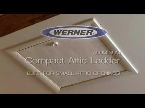 Werner Compact Attic Ladder   Easy To Open And Close