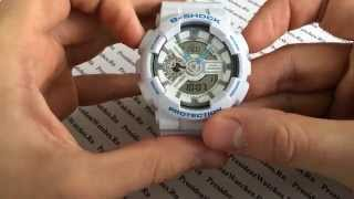 Как настроить CASIO G-SHOCK GA-110SN-7AER и другие модели GA-110 - видео от PresidentWatches.Ru