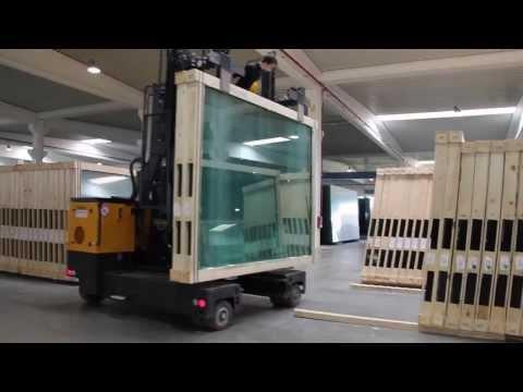 HUBTEX - системы транспортировки и обработки листового стекла, погрузчики стекла
