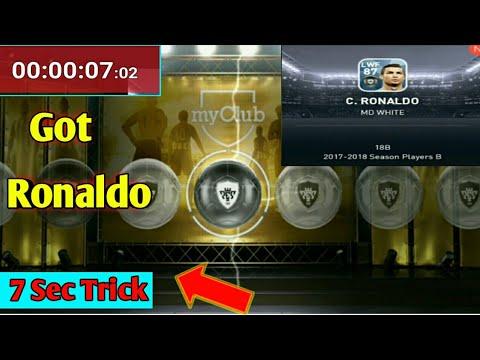 Got Ronaldo by Using 7 Sec Trick PES 2018 MOBILE