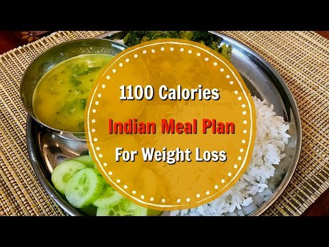 1100 Calories Full Day Healthy Indian Meal Plan + Weight Loss Tips