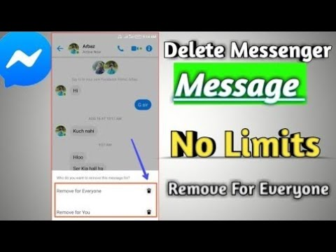 How To Delete Message On Messenger No Time Limits For Remove Everyone   YouTube