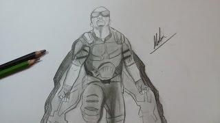 Dibujo de Falcon de Civil War/ Drawing Falcon