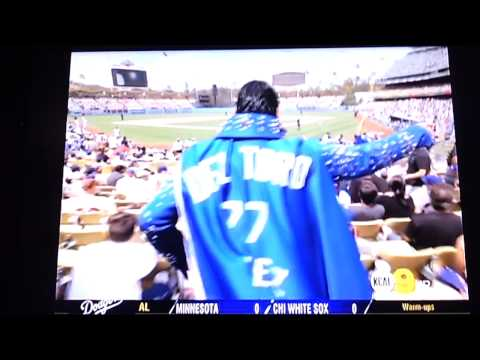 CBS KCAL Think Blue Dodger Elvis (Elvez) Pre Game Show Sponered by One Click Cleaners
