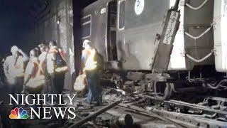 36 hurt in NY subway train derailment