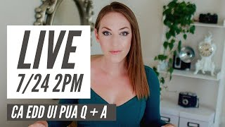 CA EDD Live Q+A - Pending, Conditional Payment/Pay Now, Phone Tips, PEUC, PUA
