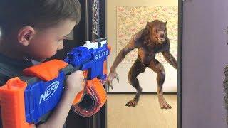 NERFGame werewolf vs Bogdan Нерф игра Оборотень против Богдана