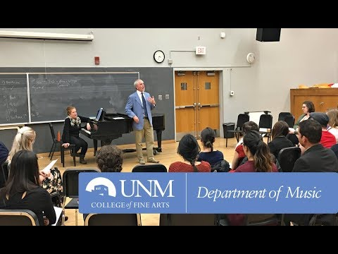 Anthony Michaels-Moore Masterclass at UNM, Part I
