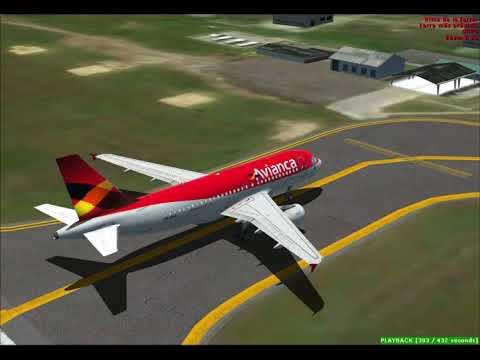 FSX Aerosoft A319 Avianca Landing en Pasto Colombia