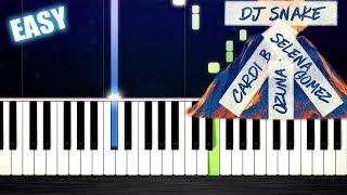 Baixar DJ Snake - Taki Taki ft. Selena Gomez, Ozuna, Cardi B - EASY Piano Tutorial by PlutaX