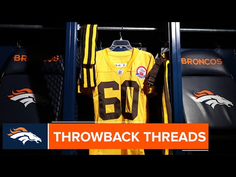 A Closer Look At The Broncos' 1960s Brown And Yellow Uniforms