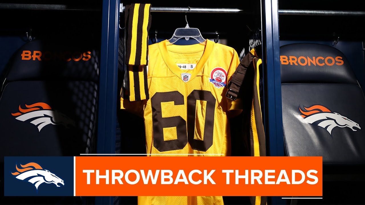 the latest 4f93b a203b A closer look at the Broncos' 1960s brown and yellow uniforms