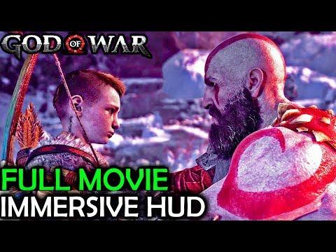God Of War 4 Full Movie All Cutscenes (Marathon Edition) - Immersive HUD Cinematics PS4 2018