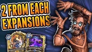 Two Cards from each Expansion for Renolock | Wild Reno Warlock | Hearthstone Rise of Shadows
