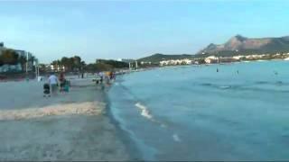 Alcudia beach, Majorca 8pm evening 12th July 2010