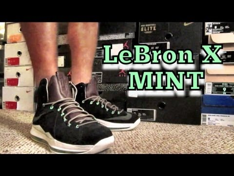 LeBron X EXT Mint Review & On Feet