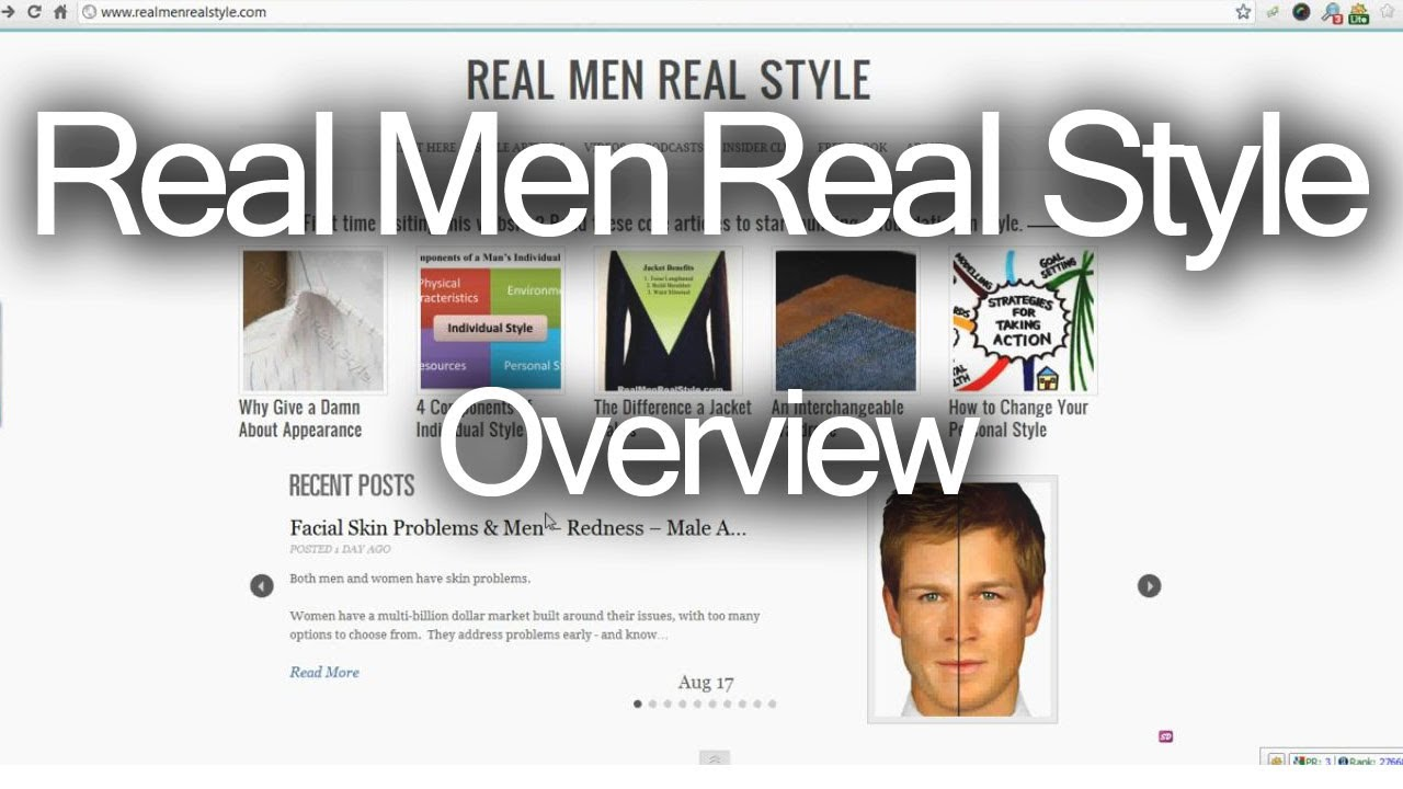 overview of real men real style mens fashion advice