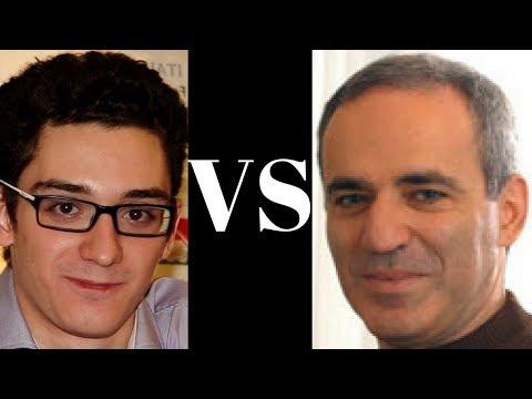 The return of the Chess legend : Fabiano Caruana vs Garry Kasparov : Saint Louis Blitz 2017 - Rd 12