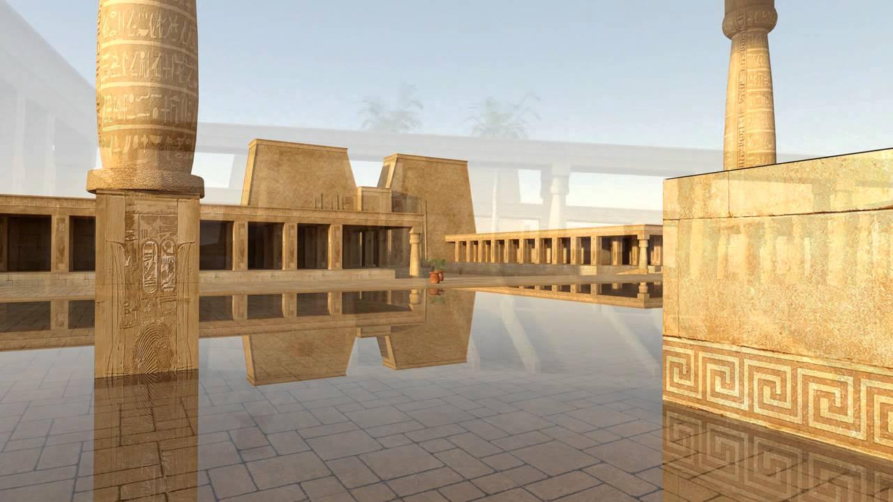 Arquitectura egipcia palacio de ra youtube for Arquitectura de egipto
