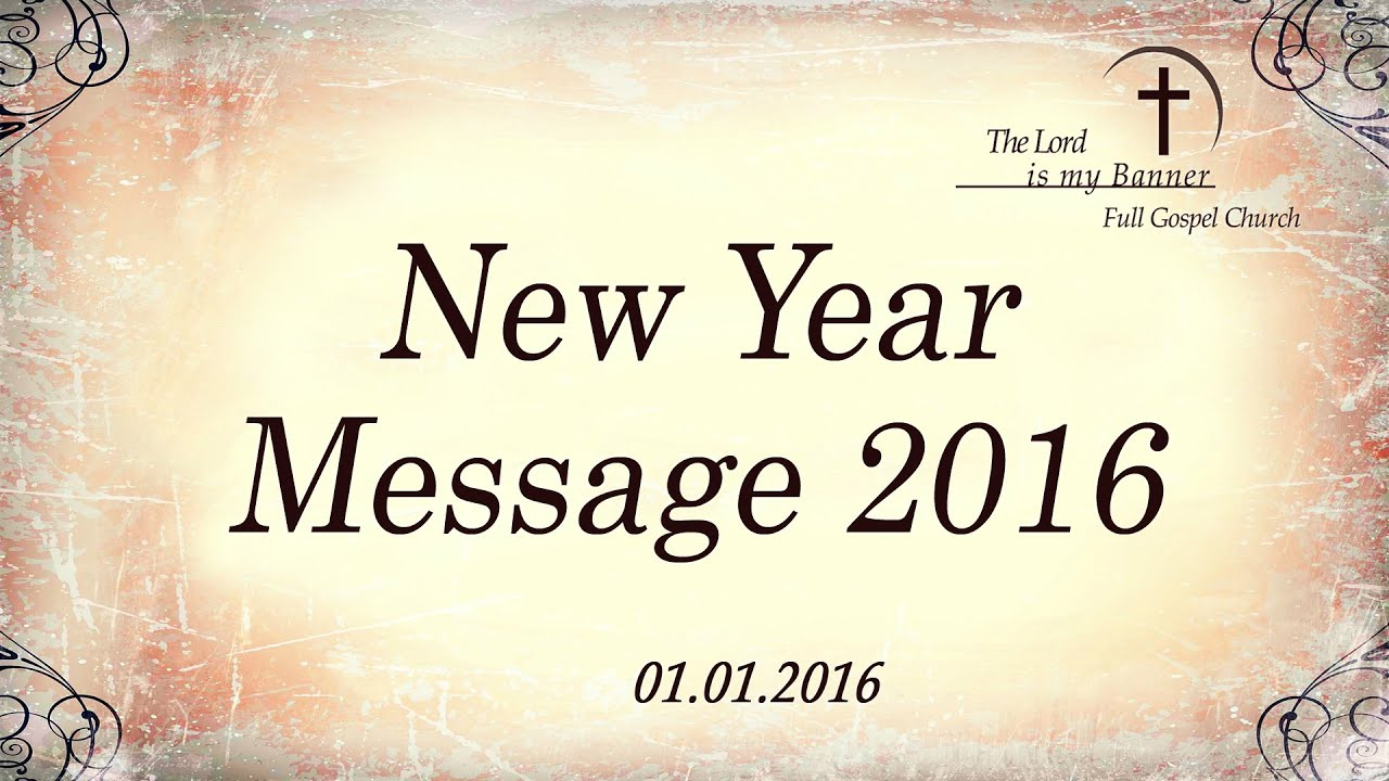 New Year Message Tamil Christian Message - YouTube