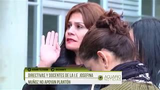 Directivas y docentes de la I.E  Josefina Muñoz no apoyan plantón