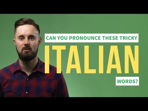 Can You Pronounce These Tricky Italian Words?