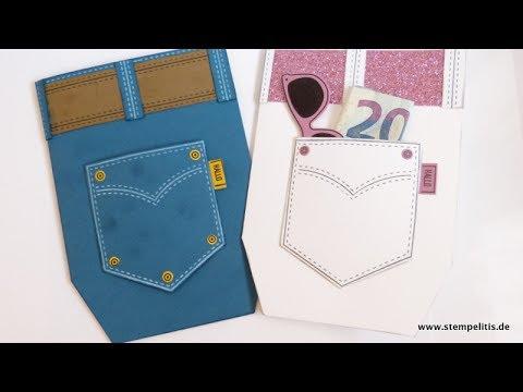 Stampin Up Geldgeschenk Karte Jeanshose Von Stempelitis Youtube