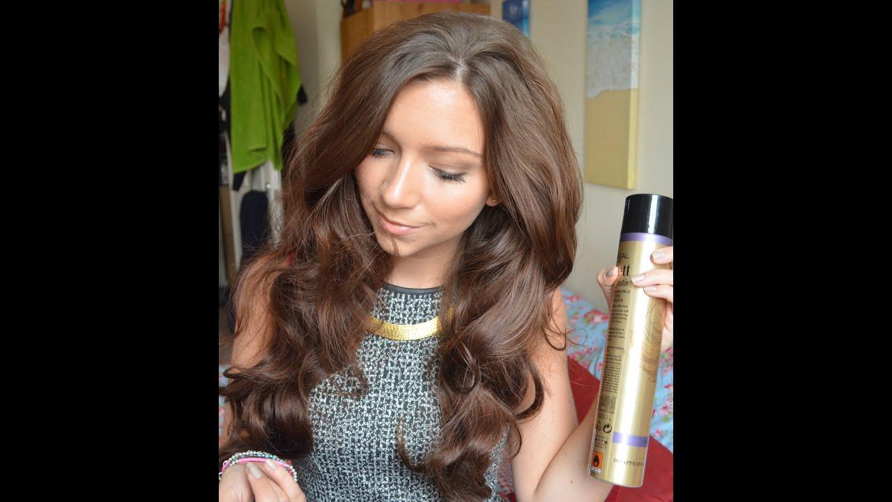 big wavy hair tutorial style