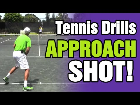 Tennis Drills - Approach Shots, Volleys, Net Play with Tom Avery
