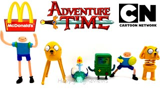 2014 ADVENTURE TIME McDONALD'S SET OF 6 HAPPY MEAL KIDS TOYS COLLECTION VIDEO REVIEW