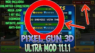 pixel gun 3d 11 1 1 ultra mod android online working 2016 godmode unlimited gems coins ammo