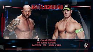 WWE 2K15-  John Cena vs Batista No Holds Barred Match for WWE Champion (PS4)