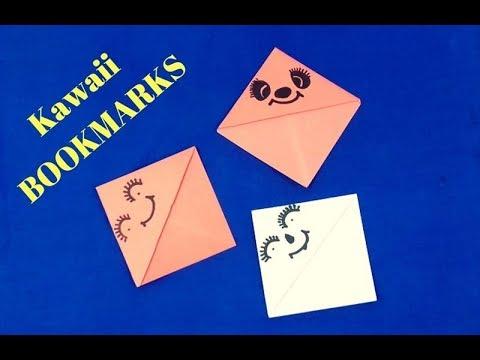 💝 💝 DIY Kawaii BOOKMARKS - How to Make Easy Origami Bookmark 💝